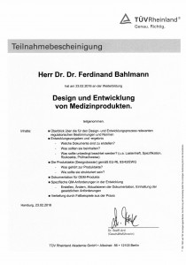 Teilnahmebescheinigungen TÜV_Design und Entwicklung von MP