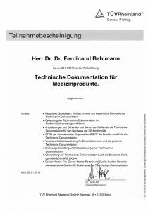 Teilnahmebescheinigungen TÜV_Technische Dokumentation_28 01 2016
