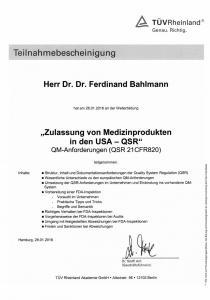 Teilnahmebescheinigungen TÜV_Zulassung von MP in den USA-QSR_26 01 2016